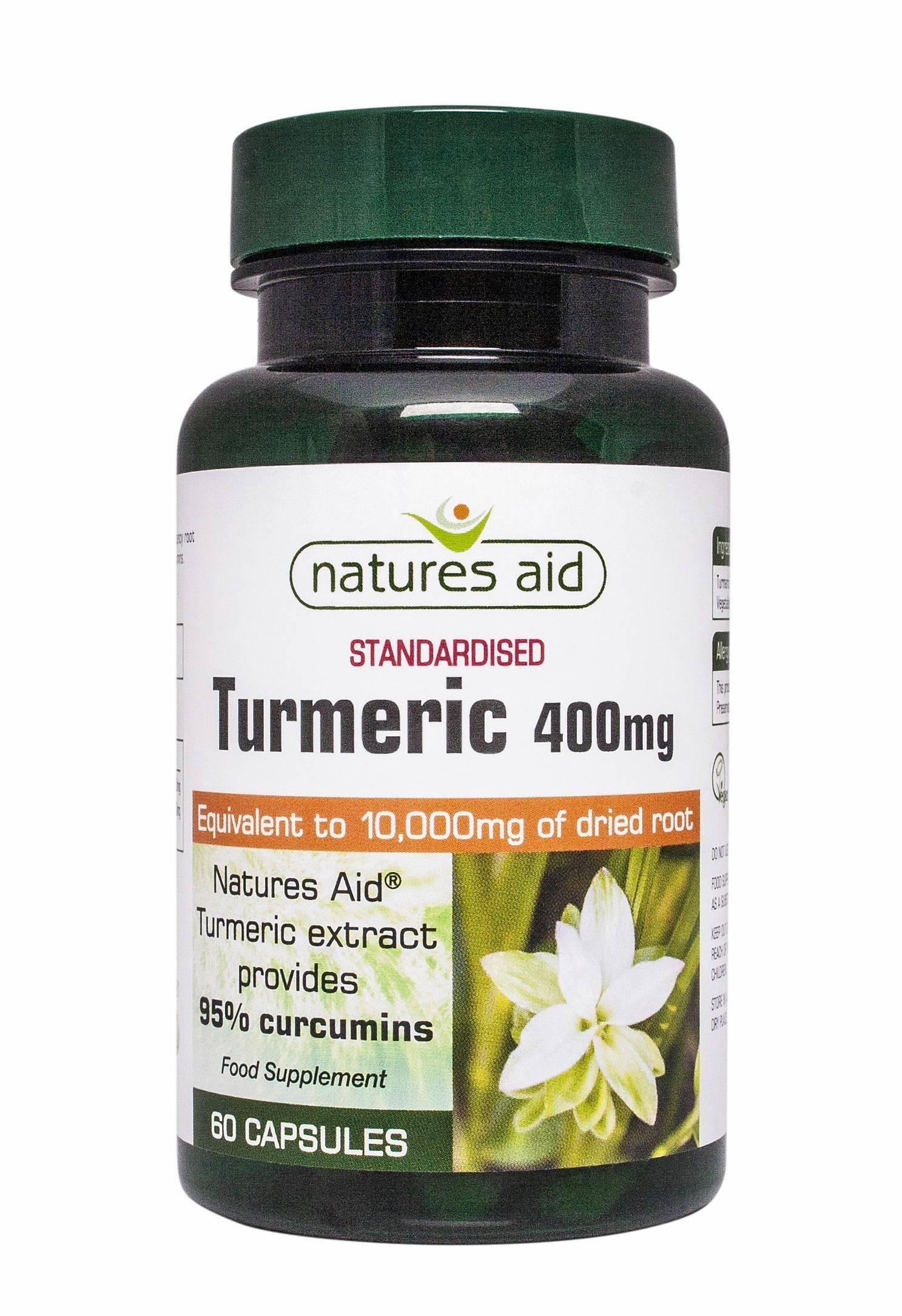 turmeric 95 - 60 capsule vegetale natures aid