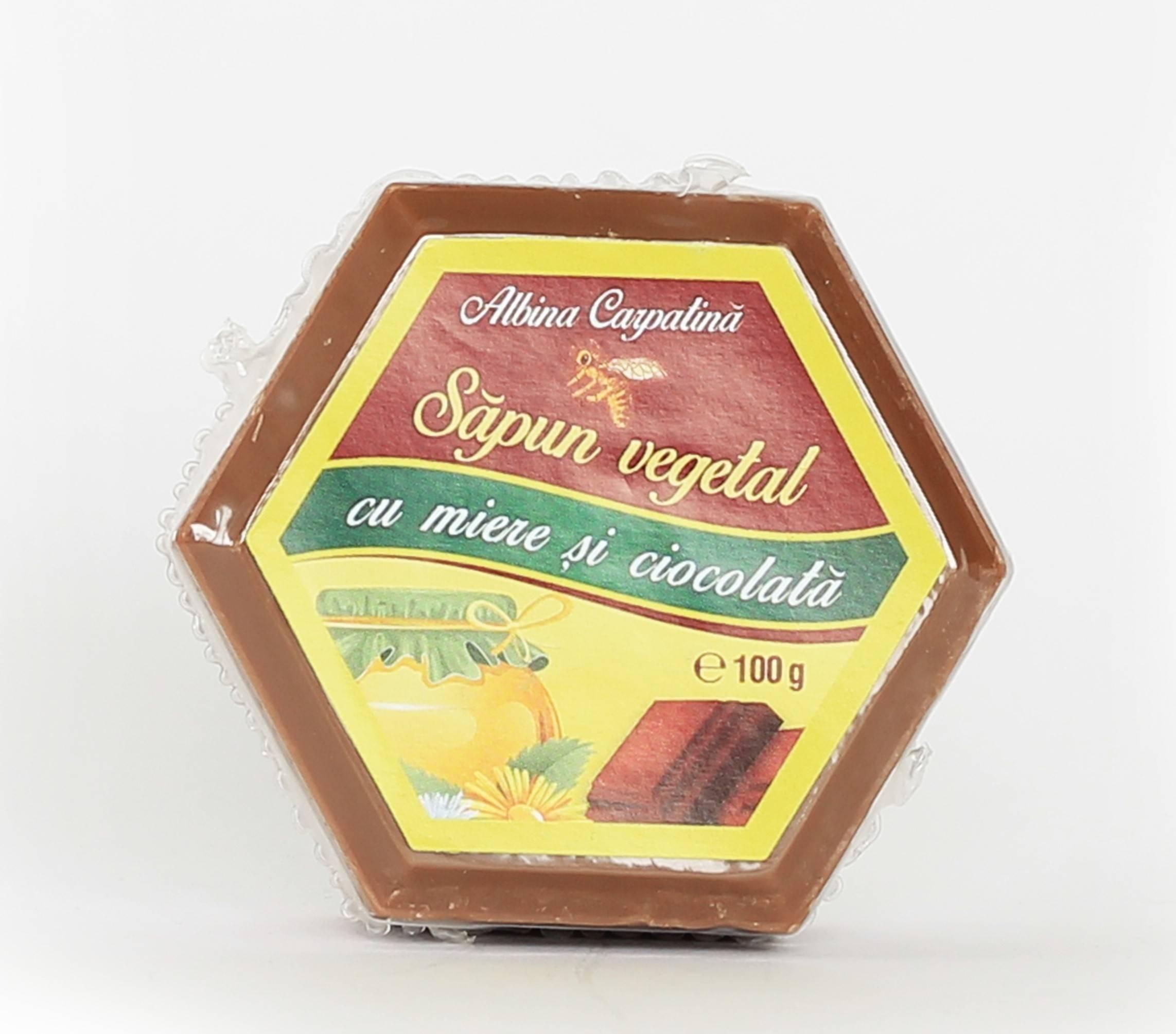 sapun cu miere si ciocolata albina carpatina