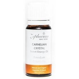 Ulei Esential Organic Carnelian Crystal cu Ulei de Portocale