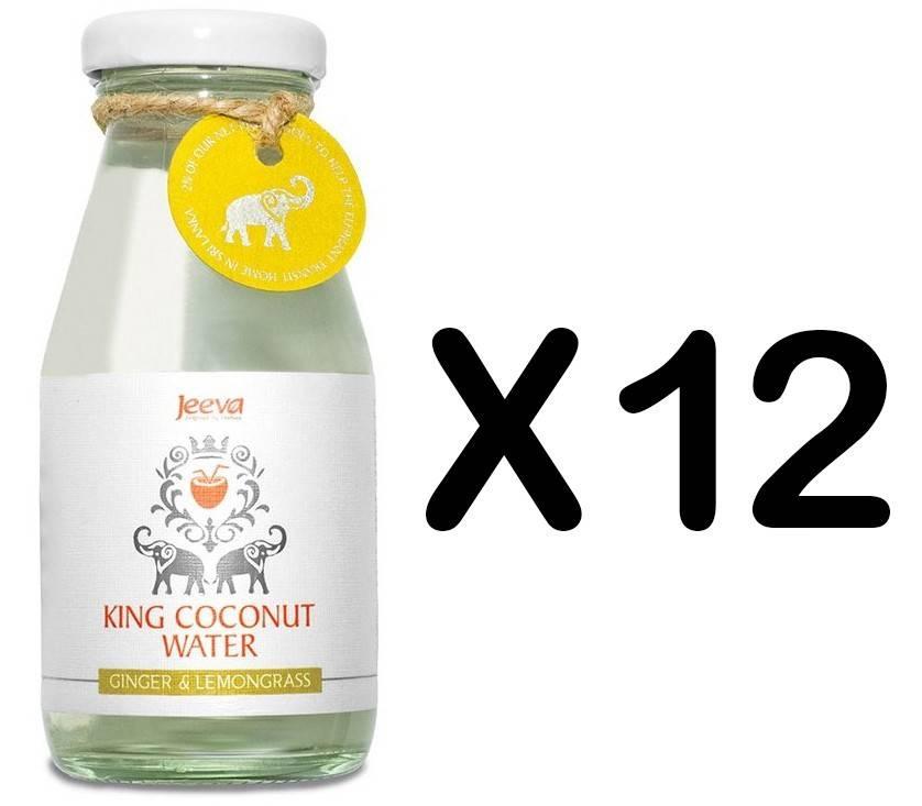 Set 12 Sticle Apa de Nuca de Cocos Ghimbir si Lamaie Verde 200ml Jeeva thumbnail