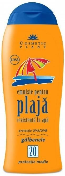 emulsie pentru plaja rezistenta la apa spf 20 cu galbenele (200 ml)