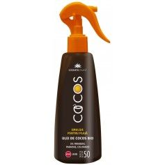 Emulsie plaja COCOS SPF 50 cu ulei de cocos bio (200 ml)