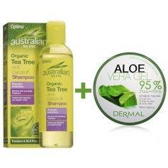 Sampon Curatare Profunda cu Tea Tree 100% Organic + Aloe Vera Gel 95%