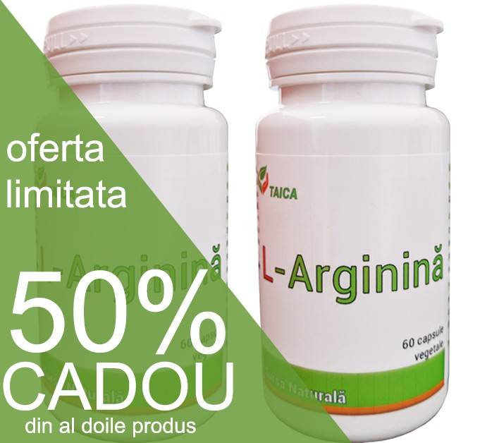 pachet l-arginina 60cps 100% naturala