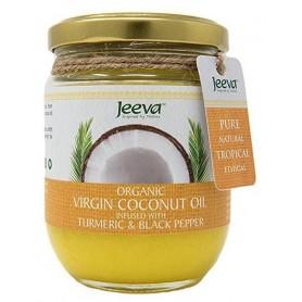 Ulei de Cocos Organic Virgin cu Turmeric si Piper Negru 200ml Jeeva