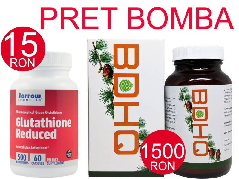 pachet bdhq 13g siberia + glutathione reduced 500mg 60 capsule