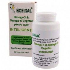 Omega 3 & Omega 6 - pentru copii inteligenti 60CPS