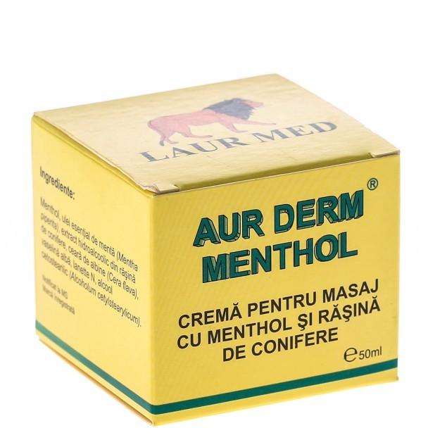 aur derm menthol crema masaj antireumatic 50 ml, laur med