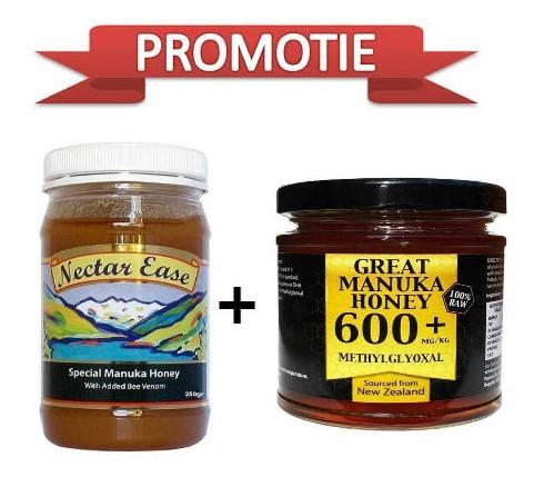 pachet miere de manuka 600+ , +miere manuka cu venin de albine,250g