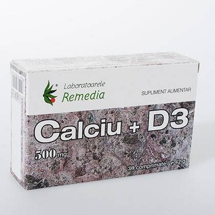 calciu+d3 500mg 30cpr