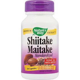 SHIITAKE MAITAKE 60CPS NATURES WAY