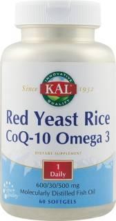 red yeast rice coq-10 omega3 60cps (drojdie de orez rosu)