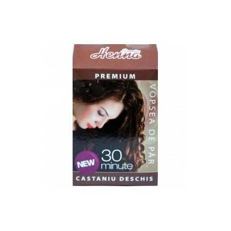 HENNA PREMIUM CASTANIU DESCHIS 60GR