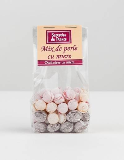 bomboane mix de perle cu miere 100g - apidava